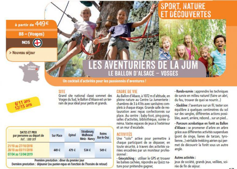 Photo séjour nature sport